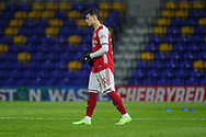 Arsenal attacker Gabriel Martinelli (35) walking onto pitch during the EFL Trophy match between AFC Wimbledon and U21 Arsenal at Plough Lane, London, United Kingdom on 8 December 2020.