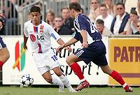 Fotball<br /> Frankrike 2005/2006<br /> 10.07.2005<br /> Olympique Lyon v Slavia Praha<br /> Foto: Dppi/Digitalsport<br /> NORWAY ONLY<br /> <br /> HATEM BENARFA (LYON) / TOMAS HRDLICKA (SLA)