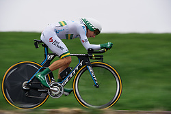 Katrin Garfoot (Orica AIS) at Omloop van Borsele Time Trial 2016. A 19.9 km individual time trial starting and finishing in 's-Heerenhoek, Netherlands on 22nd April 2016.
