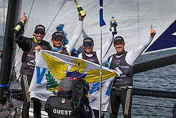 US One skippered by Taylor Canfield and crewed by Hayden Goodrick, Ricky McGarvie, Chris Main win WMRT Copenhagen. 14th May 2016.