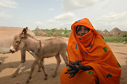 Kadija Anya, 38,  who is a traditional birth assistant, August 24, 2006 in the village of Shilabo, near Barentu, Eritrea.    (Photo by Ami Vitale)