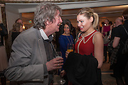 KEELEY HAWES; HOWARD MARKS, The Sky South Bank Arts Awards, Dorchester Hotel , Park Lane, London. 1 May 2012.