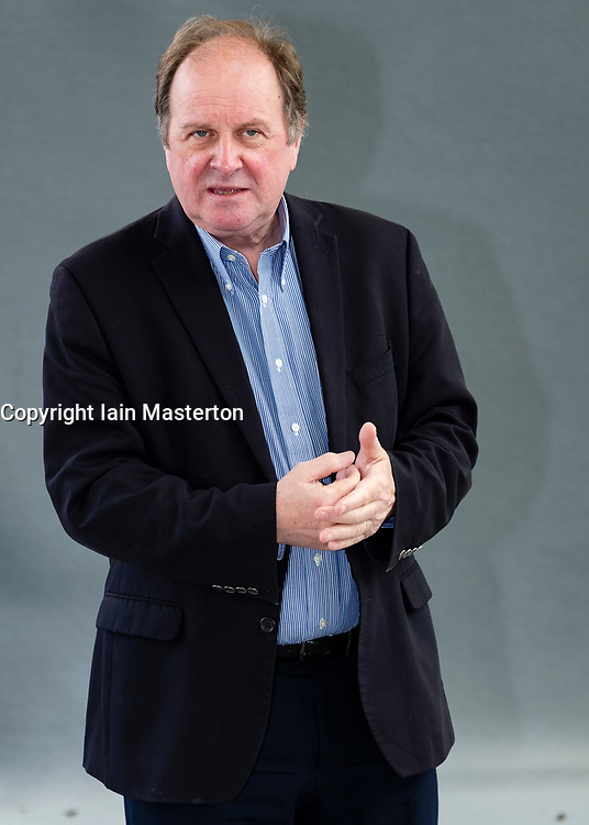 """Edinburgh, Scotland, UK; 16 August, 2018. Pictured; James Naughtie. BBC journalist hosted a panel discussing the topic """" Year of Unrest and Freedom""""."""