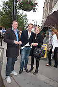 DAVID WILLE; WILLY HOLLOWAY; REBECCA CARCELLE, The Pimlico Road Summer party. London SW1. 9 June 2009