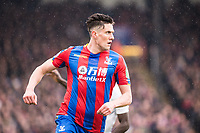 LONDON, ENGLAND - MARCH 31: Martin Kelly (34) of Crystal Palace during the Premier League match between Crystal Palace and Liverpool at Selhurst Park on March 31, 2018 in London, England.