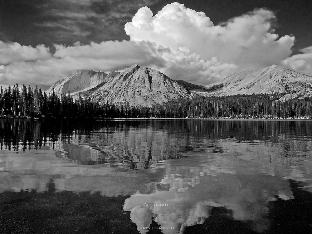 Young Lake and Mt. Conness on a summer evening, Yosemite National Park