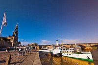 River boats on the Elbe RIver, Dresden, Saxony, Germany