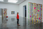 Marola, 2010-15, and Marilola, 2010-15 - 'Rio Azul' by Beatriz Milhazes at White Cube Bermondsey. Her first solo show in London for almost a decade features new paintings, installation, sculpture, collage and live performance, as well as her first ever tapestry.