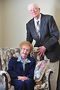 Ed and Peggy Flemister pose for a portrait in their Dallas home on Friday, April 12, 2013. (Cooper Neill/The Dallas Morning News)