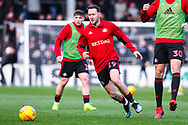 Aidan McGeady of Sunderland (19) warming up during the EFL Sky Bet League 1 match between Scunthorpe United and Sunderland at Glanford Park, Scunthorpe, England on 19 January 2019.