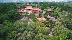 September 6, 2017 - Shenyang, Shenyang, China - Shenyang, CHINA-6th September 2017: (EDITORIAL USE ONLY. CHINA OUT)..The Fuling Mausoleum,also known as the East Mausoleum, is the mausoleum of Nurhaci, the founding emperor of the Qing dynasty and his wife, Empress Xiaocigao. It served as the main site for ritual ceremonies conducted by the imperial family during the entire Qing dynasty.Located in the eastern part of Shenyang city, Liaoning Province, northeastern China, Fuling has been a UNESCO World Heritage Site since 2004. (Credit Image: © SIPA Asia via ZUMA Wire)