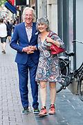 Premiere van de documentaire FREEK in Tushinski, Amsterdam.<br /> <br /> Op de foto:  Freek en Hella de Jonge