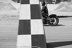 Ryan Macky's 1942 Harley-Davidsons WLA Flathead at the Race of Gentlemen. Wildwood, NJ, USA. October 11, 2015.  Photography ©2015 Michael Lichter.