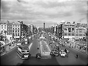 Upper O'Connell Street and Nelsons Pillar, Dublin..04.02.1961