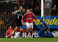 Photo: Javier Garcia/Back Page Images<br />Charlton Athletic v Arsenal, FA Barclays Premiership, The Valley 01/01/2005<br />Sol Campbell goes down clutching his ankle
