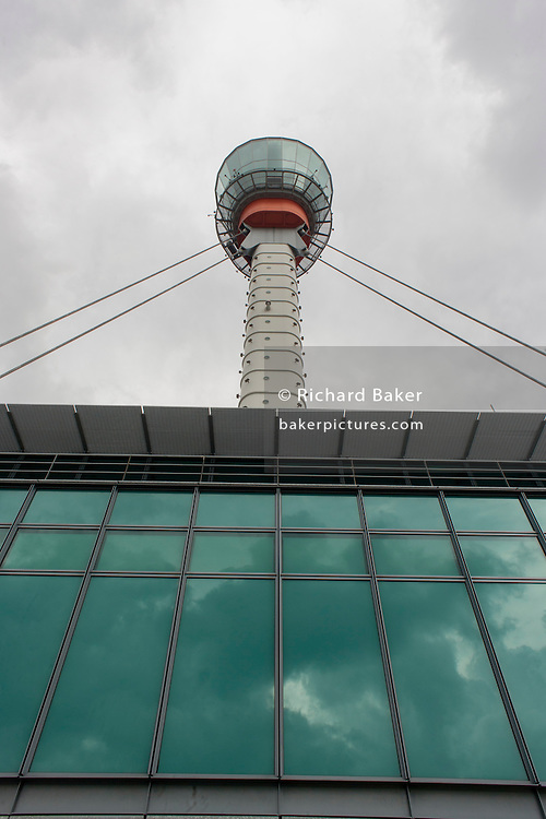 Heathrow airport's NATS Air Traffic Control tower, London, England.