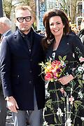 De koninklijke familie is in Zwolle voor de viering van Koningsdag. /// The royal family is in Zwolle for the celebration of King's Day.<br /> <br /> Op de foto / On the photo:  Prins Bernhard jr. en prinses Annette