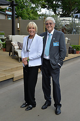 SIR MICHAEL & LADY PARKINSON at the 2014 RHS Chelsea Flower Show held at the Royal Hospital Chelsea, London on 19th May 2014.