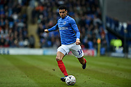 Portsmouth Midfielder, Louis Dennis (18) with a cross during the The FA Cup fourth round match between Portsmouth and Queens Park Rangers at Fratton Park, Portsmouth, England on 26 January 2019.