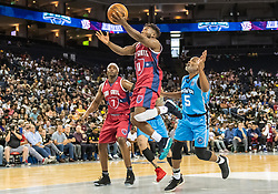 July 6, 2018 - Oakland, CA, U.S. - OAKLAND, CA - JULY 06: Nate Robinson (11) co-captain of Tri-State goes for a lay up during game 3 in week three of the BIG3 3-on-3 basketball league on Friday, July 6, 2018 at the Oracle Arena in Oakland, CA (Photo by Douglas Stringer/Icon Sportswire) (Credit Image: © Douglas Stringer/Icon SMI via ZUMA Press)