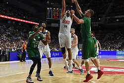 May 31, 2017 - Madrid, Madrid, Spain - Gustavo Ayón (C), #14 of Real Madrid in action during the first game of the semifinals of basketball Endesa league between Real Madrid and Unicaja de Málaga. (Credit Image: © Jorge Sanz/Pacific Press via ZUMA Wire)