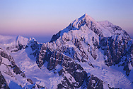 Spectacular view of Mt Cook/ Aoraki at sunset.  New Zealand's highest mountain, Mt Cook is located in the Southern Alps.