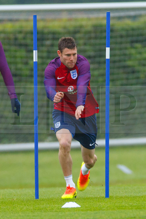 © Licensed to London News Pictures. 01/06/2016. London, UK. England's JAMES MILNER training with England team at Watford Training Ground on Wednesday, 1 June 2016, ahead of the Euro 2016 in France. Photo credit: Tolga Akmen/LNP