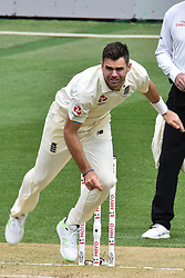 March 23, 2018 - Auckland, Auckland, New Zealand - James Anderson of England  during Day Two of the First Test match between New Zealand and England at Eden Park in Auckland on Mar 23, 2018. (Credit Image: © Shirley/Pacific Press via ZUMA Wire)