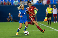 Finland's Emma Koivisto and Spain's Olga Garcia during the match of  European Women's Championship 2017 at Leganes, between Spain and Finland. September 20, 2016. (ALTERPHOTOS/Rodrigo Jimenez)