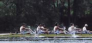 Lucerne, SWITZERLAND GBR M4-, Nick BURFITT, Peter MULKERRINS, Simon BERRISFORD and Stroke Terry DILLON. 1992 FISA World Cup Regatta, Lucerne. Lake Rotsee.  [Mandatory Credit: Peter Spurrier: Intersport Images] 1992 Lucerne International Regatta and World Cup, Switzerland