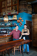Ned Ludd, a restaurant in NE Portland, where nearly every dish is cooked in the restaurant's wood burning oven. Chefs Jason French (left, red shirt) and Benjamin Meyer