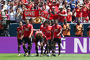 Manchester United Midfielder Jesse Lingard celebrates his goal 0-1 during the AON Tour 2017 match between Real Madrid and Manchester United at the Levi's Stadium, Santa Clara, USA on 23 July 2017.