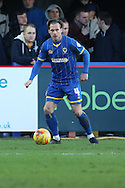 Dannie Bulman of AFC Wimbledon in action  during the Sky Bet League 2 match between AFC Wimbledon and Mansfield Town at the Cherry Red Records Stadium, Kingston, England on 16 January 2016. Photo by Stuart Butcher.