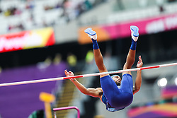London, August 11 2017 . Devon Williams, USA,, in the men's decathlon high jump on day eight of the IAAF London 2017 world Championships at the London Stadium. © Paul Davey.