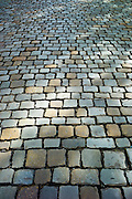 Cobble stone floor at St Martin de Re, Ile de Re, France