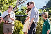 Duke and Duchess of Cambridge visit Taronga Zoo, Sydney , Australia. Catherine, Duchess of Cambridge and Prince William, Duke of Cambridge meet a Quokka, 20 April 2014