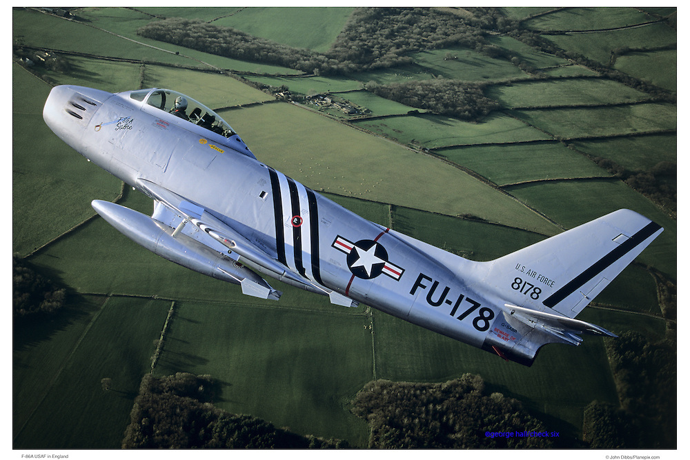 F-86 USAF, air-to-air in England