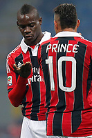 "Mari Balotelli Milan, Kevin Boateng Milan, Milano 15/2/2013 <br /> Stadio ""S.Siro""<br /> Football Calcio 2012/2013 Serie A<br /> Milan Vs Parma<br /> Foto Marco Bertorello Insidefoto"