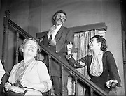 "21/1/1955<br /> 1/21/1955<br /> 21 January 1955<br /> Abbey Theatre scenes for ""Is The Priest At Home"" at Queen's Theatre, Pearse Street, Dublin."