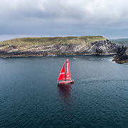 Leg 10, from Cardiff to Gothenburg, day 02 on board MAPFRE, drone shots. 11 June, 2018.