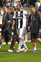 July 25, 2018 - Philadelphia, PA, U.S. - PHILADELPHIA, PA - JULY 25: Juventus defender Giorgio Chiellini (3) walks off with Bayern Munich coaching staff during a International Champions Cup match between Juventus and FC Bayern Munich on July 25,2018, at Lincoln Financial Field in Philadelphia,PA. Juventus won 2-0. (Photo by Andy Lewis/Icon Sportswire) (Credit Image: © Andy Lewis/Icon SMI via ZUMA Press)