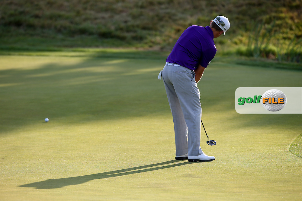 Tom Lewis (ENG) putting on the 16th during Round One of the 2015 Alstom Open de France, played at Le Golf National, Saint-Quentin-En-Yvelines, Paris, France. /03/07/2015/. Picture: Golffile   David Lloyd<br /> <br /> All photos usage must carry mandatory copyright credit (© Golffile   David Lloyd)