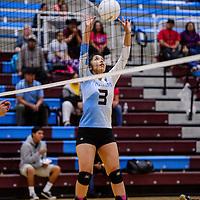 Ganado Hornet Mariah Cook (3) sets up a shot at the Piñon Eagles Tuesday at Ganado High School.