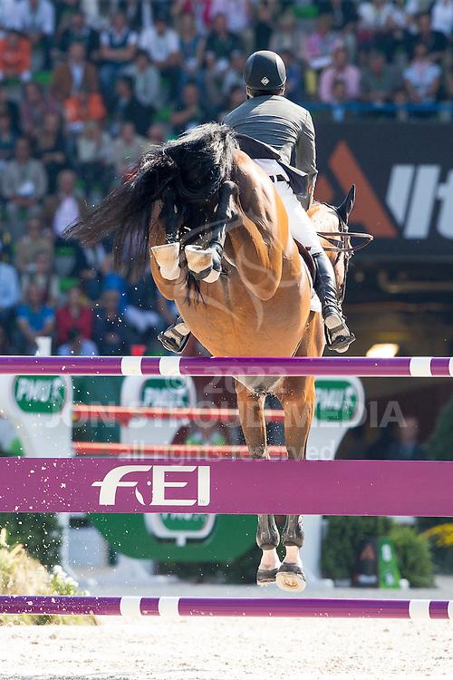 Sergio Alvarez Moya, (ESP), Action Breaker - First Round Team Competition Jumping Speed - Alltech FEI World Equestrian Games™ 2014 - Normandy, France.<br /> © Hippo Foto Team - Leanjo De Koster<br /> 03-09-14