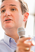 U.S. Senator Ted Cruz and GOP presidential candidate speaks during a town hall meeting with supporters at the famous Beacon Drive-in restaurant before April 3, 2015 in Spartanburg, South Carolina.