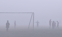 Spectral figures haunt the soccer fields early Sunday morning on Constitution Boulevard in Salinas. The approach of Halloween only adds to the mystery of such apparitions.