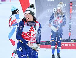 26.10.2019, Keelberloch Rennstrecke, Altenmark, AUT, FIS Weltcup Ski Alpin, Alpine Kombination, Damen, Siegerehrung, im Bild Federica Brignone (ITA) // Federica Brignone of Italy during the winner ceremony of women's Alpine combined for the FIS ski alpine world cup at the Keelberloch Rennstrecke in Altenmark, Austria on 2019/10/26. EXPA Pictures © 2020, PhotoCredit: EXPA/ Erich Spiess