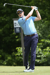May 25, 2019 - Fort Worth, TX, U.S. - FORT WORTH, TX - MAY 25: Russell Knox hits from the 8th tee during the third round of the Charles Schwab Challenge on May 25, 2019 at Colonial Country Club in Fort Worth, TX. (Photo by George Walker/Icon Sportswire) (Credit Image: © George Walker/Icon SMI via ZUMA Press)