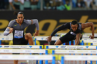 Pascal Martinot Lagarde FRA, Dimitri Bascou FRA, 110m Hurdles Men  <br /> Roma 02-06-2016 Stadio Olimpico.<br /> IAAF Diamond League 2016<br /> Atletica Legera <br /> Golden Gala Meeting - Track and Field Athletics Meeting<br /> Foto Cesare Purini / Insidefoto