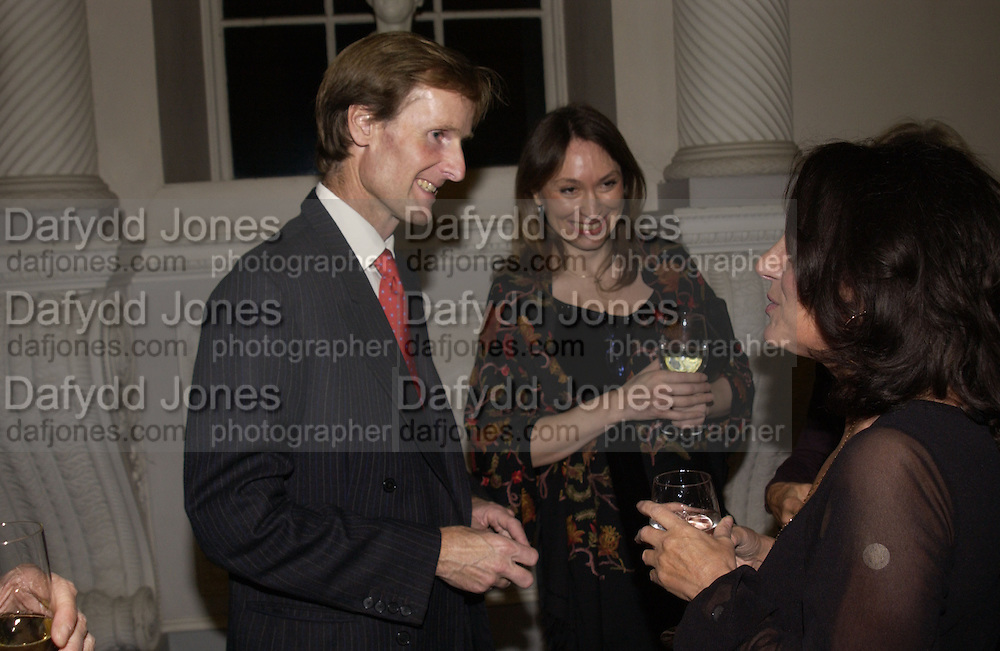 The Duke of Northumberland, Freda Katritzky and Lesley Joseph, Launch of ' The World of Private Castles, Palaces and Estates. Syon House. 31 October 2005. ONE TIME USE ONLY - DO NOT ARCHIVE © Copyright Photograph by Dafydd Jones 66 Stockwell Park Rd. London SW9 0DA Tel 020 7733 0108 www.dafjones.com